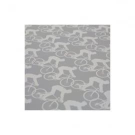 The Art Rooms Cycling Grey Gift Wrap