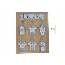 Richard Langs Cycling Shirt Keyring - Eat, Sleep, Ride A Bike