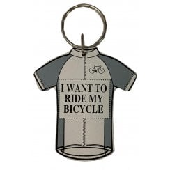 Richard Langs Cycling Shirt Keyring - I Want To Ride My Bicycle