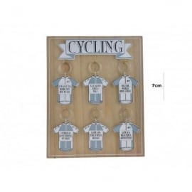 Richard Langs Cycling Shirt Keyring - Life On The Open Road