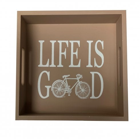 Richard Langs Cycling Tray - Life is Good - Brown