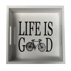 Richard Langs Cycling Tray - Life is Good - White