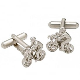 Onyx-Art Cyclist Cufflinks