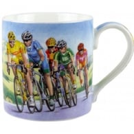Leonardo Cyclists Race Mug