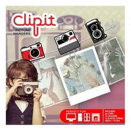 Just Mustard Deluxe Camera 6 Piece Paperclip Set