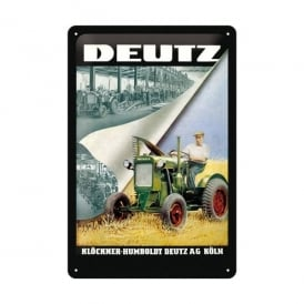 Casa Grande Deutz Tractor Tin Sign