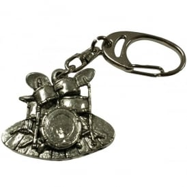 Music Gifts Company Drum Set Pewter Keyring