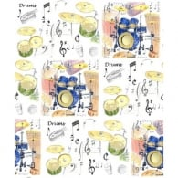 Little Snoring Drums Gift Wrap