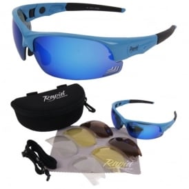 Mile High Edge Blue Cycling Sunglasses