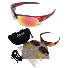 Mile High Edge Red Cycling Sunglasses