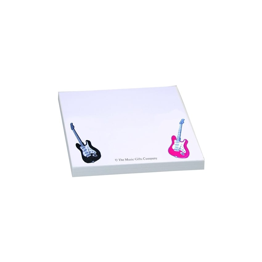 Music Gifts Company Electric Guitar Sticky Notes