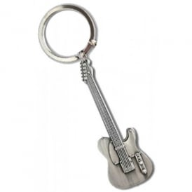 Music Gifts Company Electric Guitar Telecaster Pewter Keyring