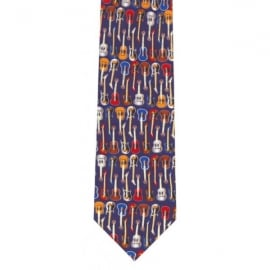 Tie studio Electric Guitars Blue Silk Tie