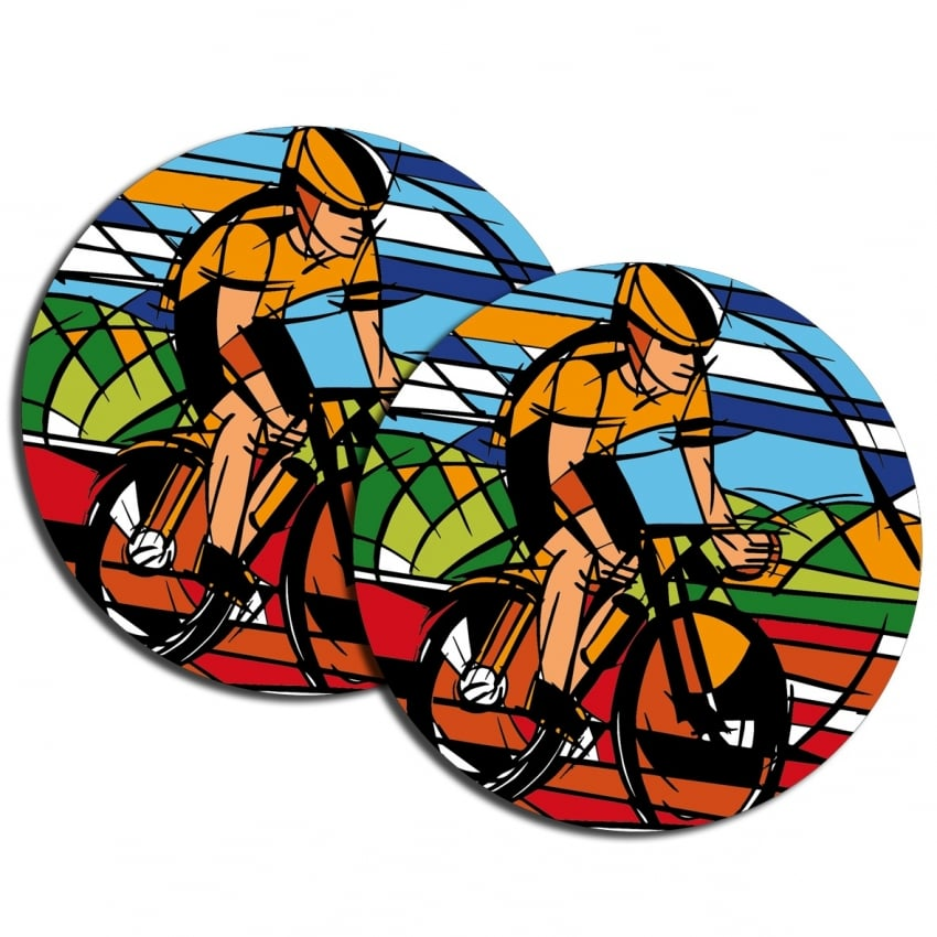 Element Gifts Element Cyclist Coasters Twin Pack