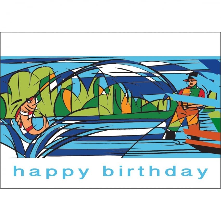 Element Gifts Element Fisherman Birthday Card