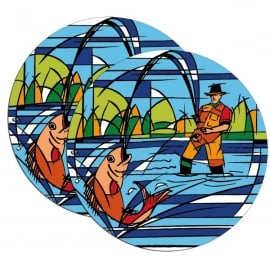 Element Gifts Element Fisherman Coasters Twin Pack