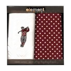 Element Gifts Element Golfer Handkerchief Twin Pack