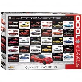 EuroGraphics Evolution of the Corvette Jigsaw (1000 Pieces)
