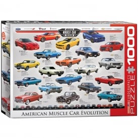 EuroGraphics Evolution of the Muscle Car Jigsaw (1000 Pieces)