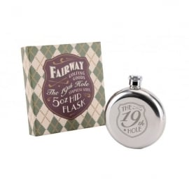 CGB Giftware Fairway 19th Hole Stainless Steel 5oz Hip Flask