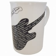 Music Gifts Company Famous Guitarists Bone China Mug