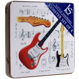 Little Snoring Fender Guitar Coasters Set of 4