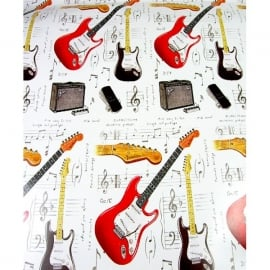 Little Snoring Fender Guitar Gift Wrap