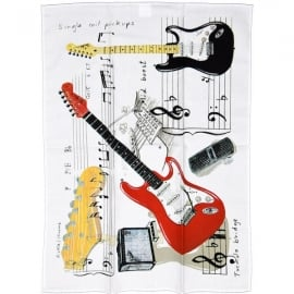 Little Snoring Fender Guitar Tea Towel