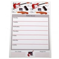 Little Snoring Fender Guitar Weekly Planner Pad