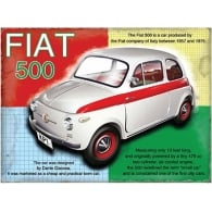 Original Metal Sign Company Fiat 500 Fridge Magnet