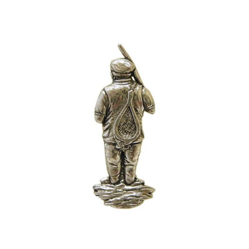 Music Gifts Company Fisherman Pewter Pin Badge