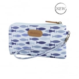 Brakeburn Fishes Clutch Purse In Blue