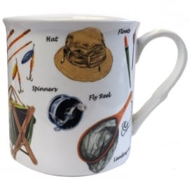 Little Snoring Fishing Gear Montage Mug