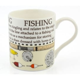Leonardo Fishing Message Mug