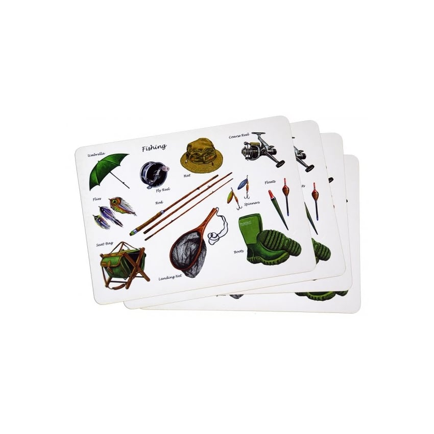 Fishing Montage Placemats Set of 4