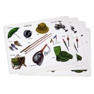 Little Snoring Fishing Montage Placemats Set of 4
