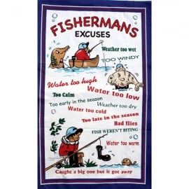 Fishing Tea Towel
