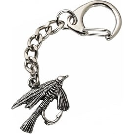 WestAir Fly Fishing Pewter Keyring