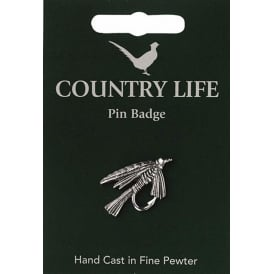 WestAir Fly Fishing Pewter Pin Badge