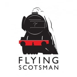 Star Editions Flying Scotsman Collectors Keyring - White