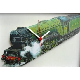 Lark Designs Flying Scotsman Cut Out Wall Clock