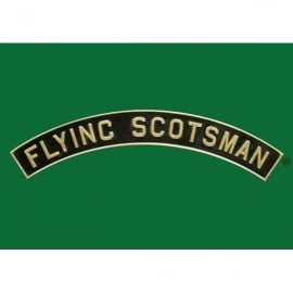 Star Editions Flying Scotsman Name Plate A5 Notepad - Green