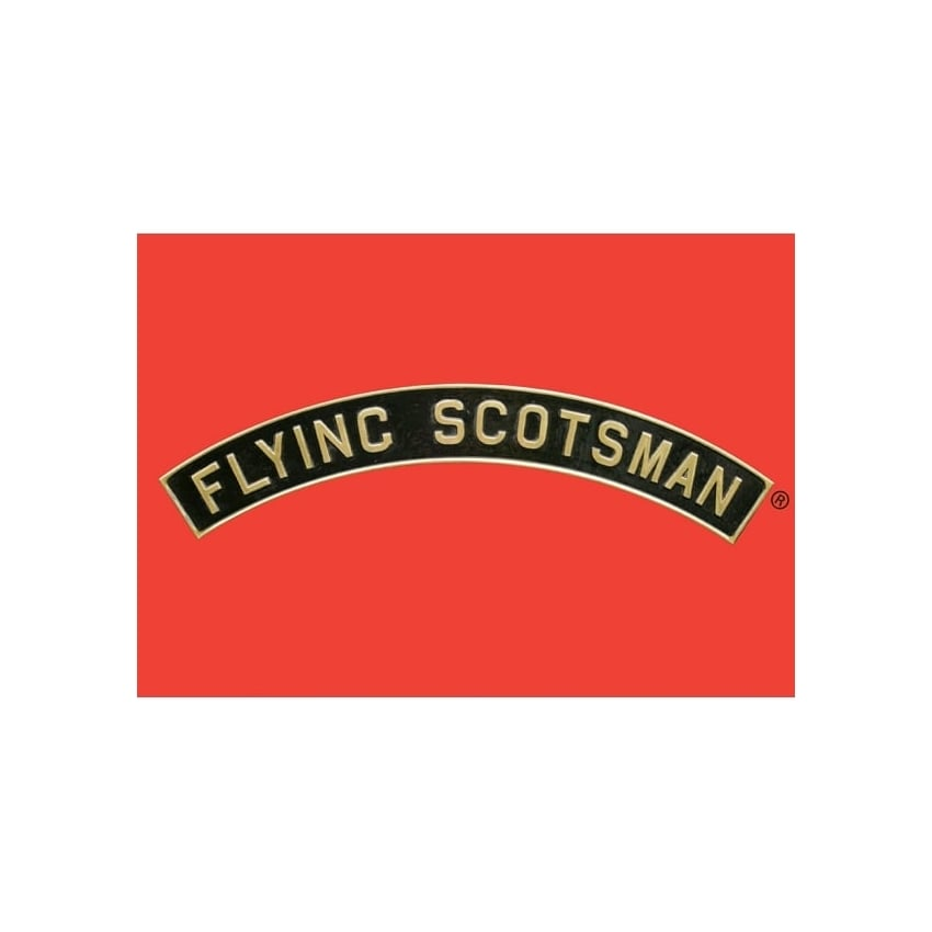 Star Editions Flying Scotsman Name Plate Collectors Tin - Red