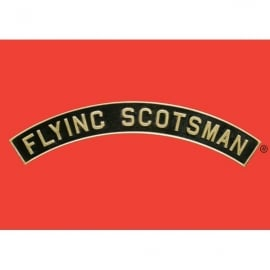 Star Editions Flying Scotsman Name Plate Metal Sign - Red