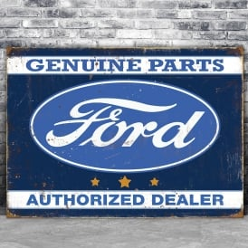 Fiesta Studios Ford Metal Sign - Genuine Parts