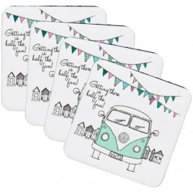 Elgate Getting There VW Campervan Coasters - Set of 4