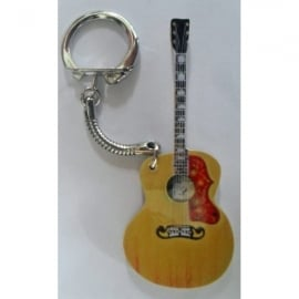 Lark Designs Gibson J200 Guitar Cut Out Keyring
