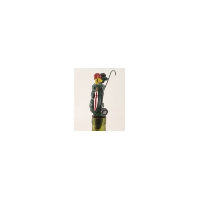 Wine Savers Golf Bag - Green Wine Bottle Stopper