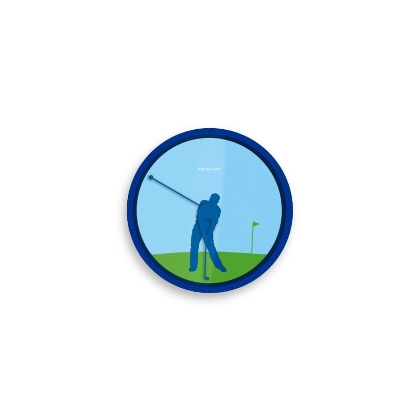 Kikkerland Golf Swing Wall Clock
