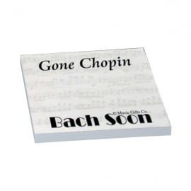 Music Gifts Company Gone Chopin Sticky Notes